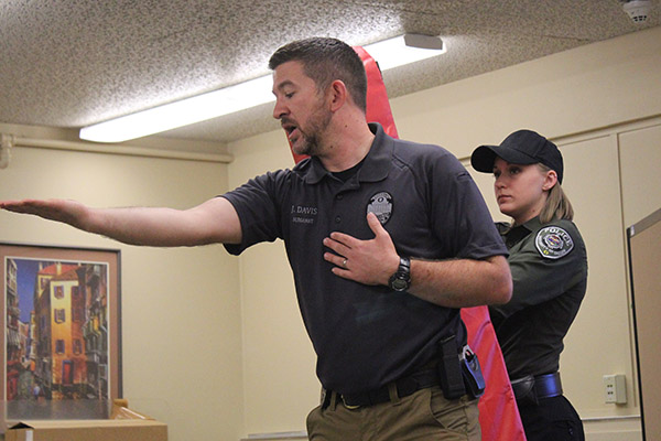 Demonstration of a self-defense action